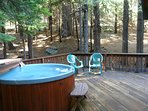 Relax in the hot tub after a great hike!