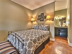 Bedroom 5 Mother-In-Law Studio with Queen Bed, TV, Fireplace, Kitchenette and Private Bath