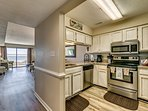 Renovated kitchen with granite and SS appliances