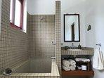 master bedroom bathroom, with deep bath/shower