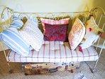 Antique metal sofa