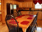 Well-equipped Kitchen and Dining Table Seating for 8