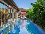 No its not a plunge pool perfect for couples, friends travelling together or families.