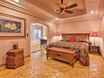 Those sharing the master bedroom will enjoy restful nights of sleep in the plush king bed.