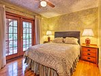 Beautiful French doors lead out to the covered lanai from the second bedroom.