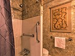 The second full bathroom offers a shower/tub combo.