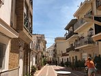 One of the traditional streets of Carihuela.