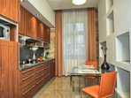 Modern, fully equipped kitchen with seating for 2 people