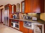 full gourmet kitchen designed by Roy Yamaguchi