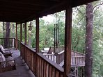 Back porch overlooking the river and trees