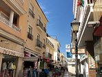 The streets in Carihuela are great for shopping and have many restaurants to choose from.