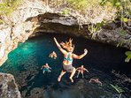 Blue Hole cliff jumping is 30 minutes away.