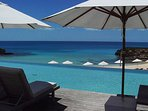 The infinity pool at The Cove Resort.