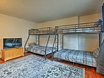 The 2 twin-over-full bunks can sleep up to 6 guests.