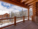 Step onto the Master Bedroom's private balcony to enjoy a view of the mountains.
