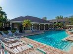 Big, heated pool