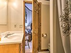 The room also features a private en-suite bathroom.