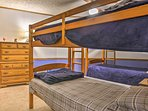 The bunk room with 2 twin-over-twin bunk beds is great for the kiddos.