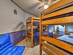 It comfortably sleeps 4 tired travelers.