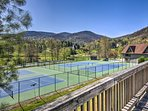 Stay in shape with fast-paced games of tennis!