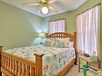 Each of the bedrooms features memory foam mattresses.
