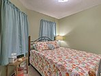 The third bedroom also features a comfortable queen bed.