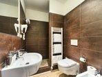 Second bathroom with shower corner