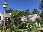 Gardens and birdhouse