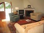 Living room in barn
