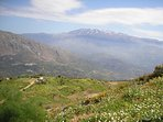 Mount Psiloritis viewed in springtime from the Agia Galini road