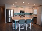 Oversized Kitchen island seats 6, Stainless Steel appliances, Keurig and everything you may need!