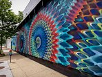 Street graffiti in NoMa 25 min by Metro