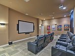 Watch a movie in the community theater.