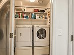A washer and dryer are provided so you can keep your gear clean!