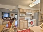 Get cooking in the fully equipped kitchen!