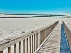 The private walkway to the beach is your portal to shoreside tranquility.