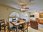 Host holiday meals at the 6-person dining table.