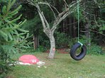 Kids will Enjoy the Tire Swing & Sand Box