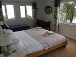 Master Bedroom with Kingsize Bed Sea View to Bay