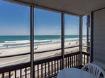 View from the second floor oceanfront condo
