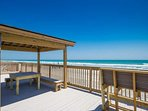 Gazebo can provide shade from the sun while still enjoying all the ocean views and breeze.o