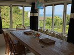 Dining Table with panoramic sea views