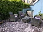 Relax in our quiet court yard garden