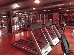 Newly refurbished gym at leisure centre