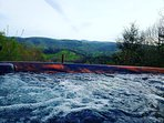 Enjoy the view while soaking in the hot tub #hottub