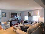 Flat Screen TV and WIFI for your enjoyment with plenty of seating- 415 Main Street Chatham Cape Cod New England...