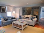 Open living room with wet bar for your enjoyment - 415 Main Street Chatham Cape Cod New England Vacation Rentals