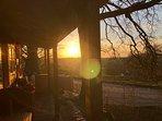 Watch the sun go down from the veranda