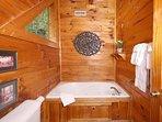 Jacuzzi Tub in Upstairs Bathroom