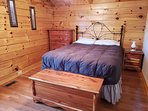 Queen size bed, dresser, nightstand and closet